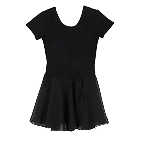 ESHOO Child Girl Gymnastics Ballet Dress Kid Leotard Skirt Dance Wear Costumes