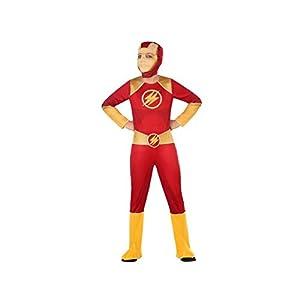 Atosa-56942 Disfraz Héroe Comic, Color Rojo, 7 a 9 años (56942
