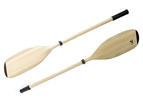 Kajak Paddeln The Stork, Natur, Holz, Eco-natur, asymetrisch/asymetrisch, 2-teilig - 230cm fur Kayak, Schlauchboote usw.