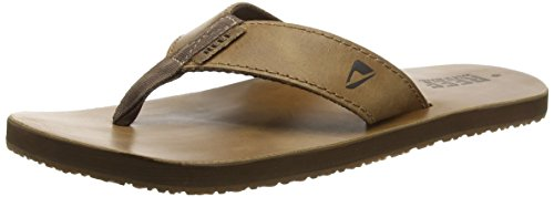 Reef Leather Smoothy, Men Flip Flops, Brown (Bronze Brown), 9 UK (43 EU)