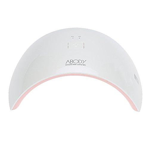 Abody Lampada LED Unghie 24W Timer da 30s, 60s per LED UV ,in Automatico Sensore Portatile Professionale per Manicure Strumento per Salone con Disegno Speciale Rosa