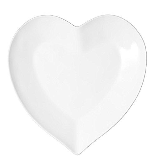 BUTLERS Heart Herz-Teller aus Porzellan - weiß - 18,5 cm