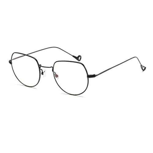Luckiests UV400 Schutz Metallrahmen Sonnenbrillen Myopic Flachrahmen Männer Frauen Mädchen Brillen Brillen