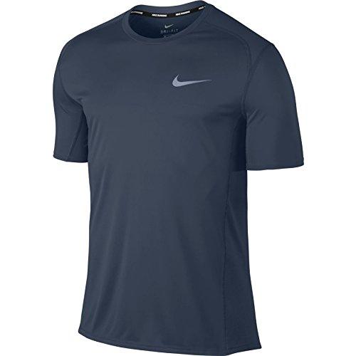 Nike Herren T-Shirt M NK Dry Miler Top SS, Blu 471, Medium Herren Nike Shirts Medium