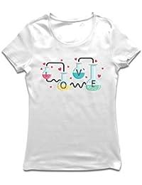lepni.me Camiseta Mujer La fórmula del Amor, Ciencia, química - Regalo de