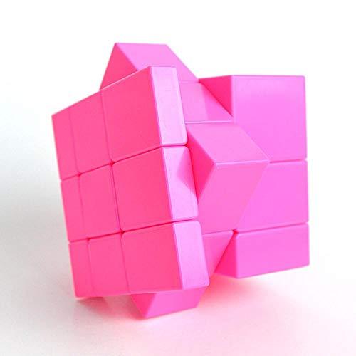 KOBWA Speed Cube, Spiegel, glatt, Zauberwürfel, 3 x 3 x 3 Puzzle-Zauberwürfel, 3D-Puzzle, Lernspielzeug für Kinder, Jungen, Kleinkinder, Geburtstag, Weihnachten, Jahr Geschenk Rose Kleinkind Rose