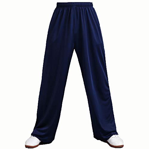 TAI CHI Herren Loose Sport Hose Damen Yogahose Pants Traininghose Kampfsport Training Hose Kung Fu Hose Sport,DarkBlue-XXL
