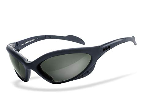 Helly® - No.1 Bikereyes® | beschlagfrei, winddicht, polarisierende HLT® Kunststoff-Sicherheitsglas nach DIN EN 166 | Bikerbrille, Motorradbrille, Sportbrille | Brille: speed king 2