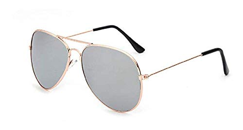Inception Pro Infinite (Gold Frame - Silver Lens) Sonnenbrillen - Männer - Frauen - Unisex - Drop - Mirror - Classic