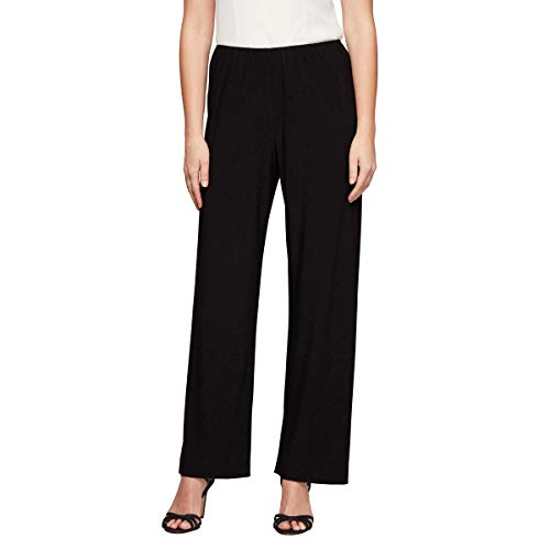 Alex Evenings Damen Petite Matte Jersey Long Straight Leg Pant Anzughose, Black, X-Large Zierlich Petite Matte Jersey