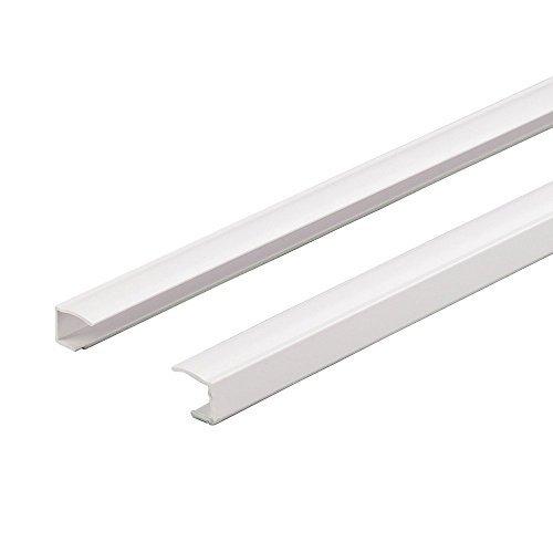 Easy-Shadow - 2 Stück Seitenschienen Länge 150 cm selbstklebend für Klemmfix-Rollos Verdunkelungsrollo - Führungsschiene aus PVC individuell kürzbar Montage ohne Bohren am Fensterflügel Verdunkelung - weiß