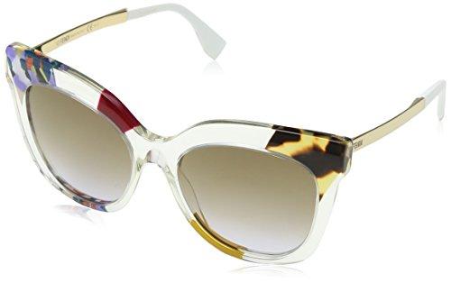 Fendi Damen FF 0179/S LW TKW Sonnenbrille, Violett (Hnyvltptt Gd/Brown Violet Ds), 53