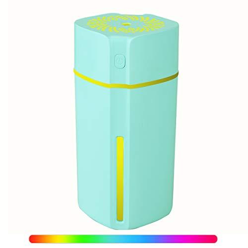 MroTech Mini Luftbefeuchter USB Lampe Ultraschall Vernebler Raumbefeuchter Nachtlicht LED mit 7 Farbe Licht Humidifier Diffuser 280ml Luft Befeuchter Leiser Klein für Baby Zimmer Büro Auto-Blau (Air Max Blue Baby)