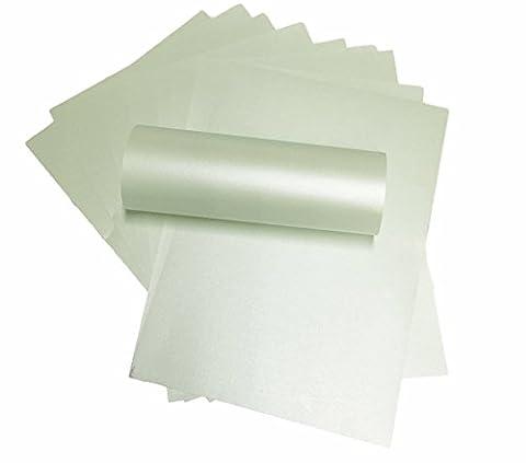20x Perle Double face A4vert menthe fraîche Voyageuse Majestic Papier nacré 120g/m² convient pour les imprimantes jet d'encre et