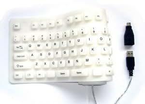 MY-Link  106 KEY FLEXIBLE DESKTOP COMPUTER KEYBOARD - WHITE
