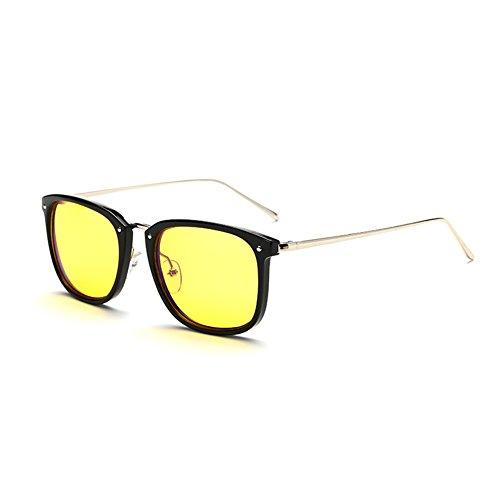 Cyxus Anti Blaulicht Brillen (Gelb Linse) [Augenschutz] Computer Brille,Unisex(Herren/Damen) blockierung uv Brillen Schwarz Rahmen/Metallbein
