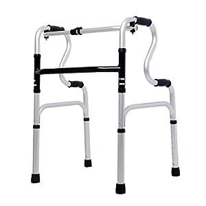SUN HUIJIE Walker aus Aluminiumlegierung Ältere Vier-Fuß-Krücke Behinderte Gehstock-Walker