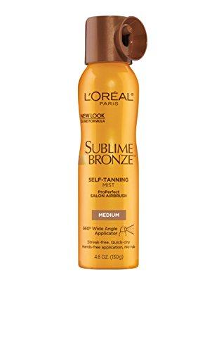 L'Oreal Paris Sublime Bronze Pro Perfect Airbrush, Medium Natural Tan (Selbstbräuner Spray) USA (Bronze Natural Tan Sublime Medium)