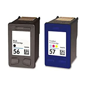 Printenviro Compatible HP 56 black C6656AE x 1 & HP 57 C6657AE colour x 1 ink cartridges, These 2 cartridges are for the following deskjet printers Photosmart 7150 7260 7268 7345 7350 7445 7450 7458 7459 7550 7660 7662 7755 7760 7762 7765 7960 HP Deskjet 450 5145 5150 5151 5160 5168 5550 5551 5552 5650 5850 9650 9670 9680 HP Officejet 4105 4110 4115 4211 4212 4215 4219 4255 4259 5505 5508 5510 5515 6105 6110 HP PSC 1110 1205 1209 1210 1215 1216 1217 1219 1310 1312 1315 1317 1318 1340 1345 1350 1355 2105 2108 2110 2115 2150 2170 2171 2175 2210 2405 2410 2510