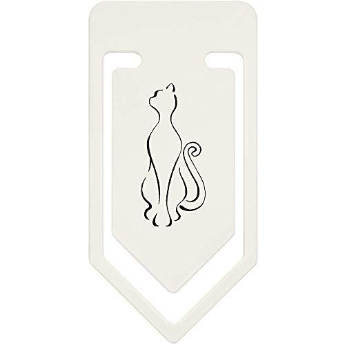 Azeeda 91mm 'Katze Umriss' Große Plastik Büroklammer (CC00043701)