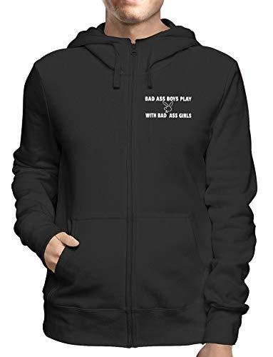 Sweatshirt Hoodie Zip Schwarz FUN1678 Guys Guy Zip Hoodie