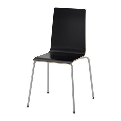 rtin' stapelbarer Stuhl in schwarz, Stahlgestell - BxTxH: 49x52x86 cm - STAPELBAR ()