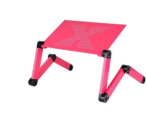 Standard-klappbett (WEII Laptop-Ständer Klappbett Computer Schreibtisch Studie Tabelle Kreative Tragbare Lift Computer Stehen,Rose rot,Standard)