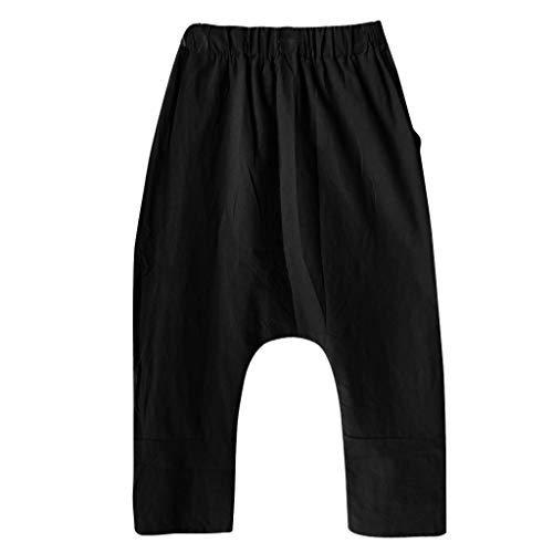 Asalinao Damen Hosen Leggings Gamaschen Frauen Plus Größen-Komfort-gerade breites Bein-lose gestreifte Taschen-Hosen-Hosen