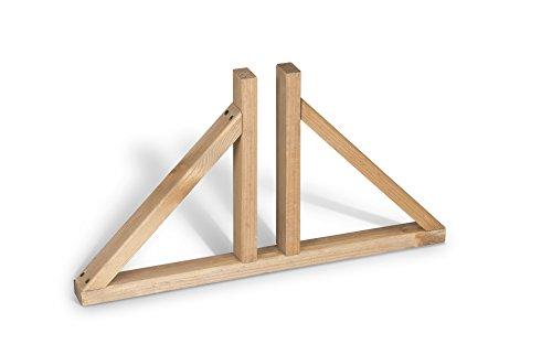 Weidenprofi Standfuß aus Holz für Paravent und Paravent Solid
