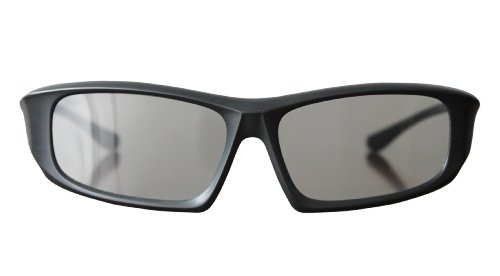 2 Pairs of Black Adults Passive 3D Glasses universal in a wraparound style for all Passive TVs Cinema and Projectors such as RealD Toshiba LG Panasonic and