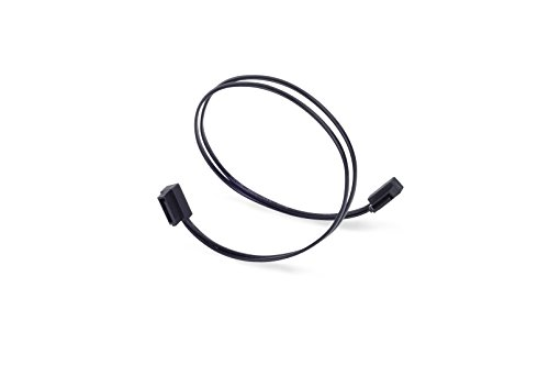 SilverStone SST-CP11-300 - SATA III 6 Gbps Kabel, ultra-dünn, um 90° abgewinkelte Anschlüsse, 30 cm, schwarz -