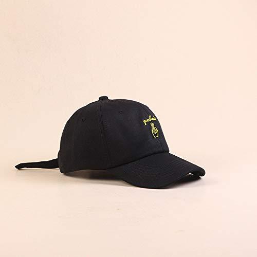 zlhcich Finger Bestickt Baseball Cap lässig einkaufen Jugend Cap Mode Visier Sonnenhut schwarz M (56-58cm) -