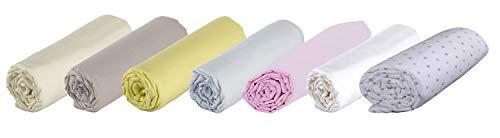 P'tit Basile - Drap housse bébé pour lit et matelas 60x120 cm - bonnets aux 4 coins - coton Bio - 57 fils par cm2 - coloris Rose