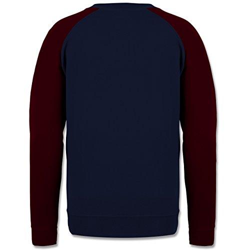 Geburtstag - 50. Geburtstag Vintage 1967 - Herren Baseball Pullover Navy Blau/Burgundrot