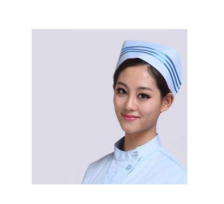 UndWeise Weiße Krankenschwester Kappe Weiblicher Arzt Hut Krankenhaus Professionelle Detist Kappen Uniform, Blau 3, Eine Größe (Professionelle Uniformen)
