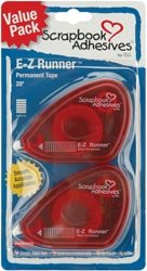 "Scrapbook Adhesives E-Z Runner Adhesive 2/Pkg-Permanent, .375""X56"