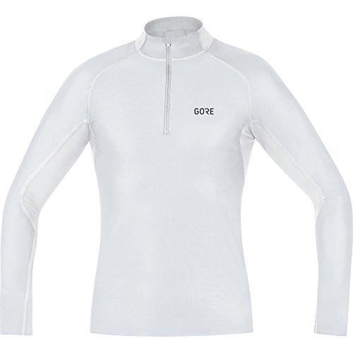 GORE WEAR Herren M Windstopper Base Layer Thermo Stehkragenshirt Shirt, Light Grey/White, XL