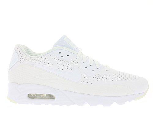 Nike Air Max 90 Ultra Moire, Chaussures de Sport Homme Blanc Cassé - Blanco (White / White-White-White)