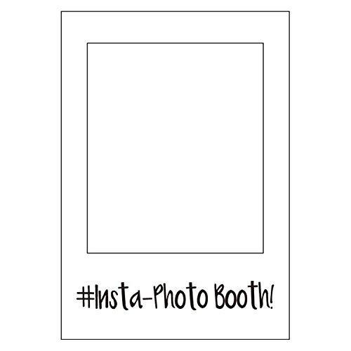 Weddecor Grande Social Networks Stile Cabina per fototessere Materiale di Scena Selfie Solo Telaio Installazione Cabina per Fototessere per Get-Together, Azienda Evento, Compleanno,Matrimonio,Feste