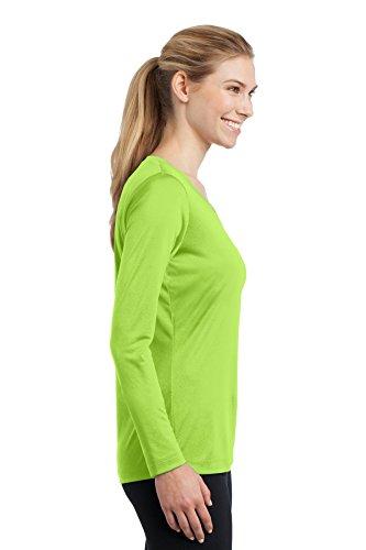 Sport-Tek Mesdames T-shirt à manches longues pour homme Col en V Competitor lst353ls Lime Shock