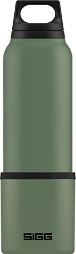 Sigg Hot und Cold Leaf Green, Vakuum-Isolierte Thermo-Flasche aus Edelstahl, 1 L, BPA Frei Trinkflasche, Grün, 0.75 L