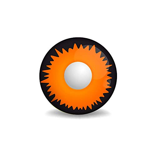 ColourVUE Crazy Lens Orange Werewolf Yearly Disposable 14 mm Contact Lens