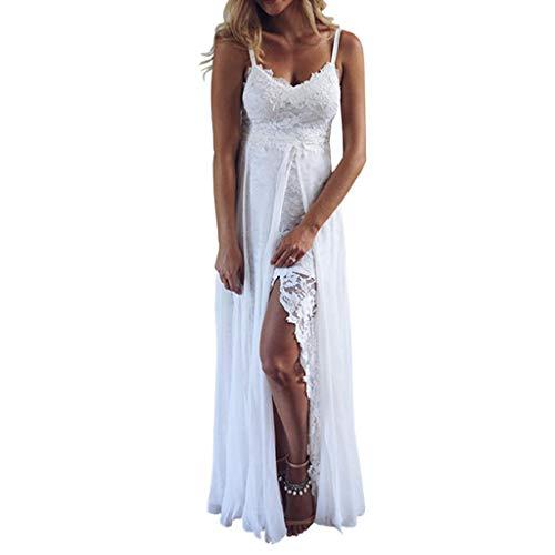 ff Sommerkleider Frauen Bikini Bademode Cover Up Cardigan Beach Badeanzug Kleid Strandkleid Chiffonkleid Weiß (XL, Weiß-F) ()