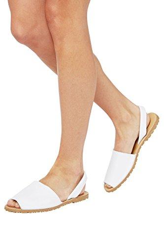 next Femme Sandales de Plage Blanc