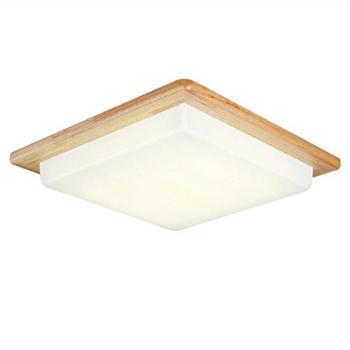 Peaceip Lampe de Plafond LED en Bois Massif Nordique, Lampe de signalisation de Haute luminosité PMMA, Lampe de Plafond en Bois carrée élégante (lumière Blanche) (Taille : 32cm)