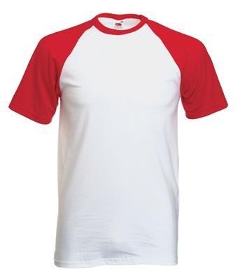 Fruit of the Loom Baseball T-Shirt Weiss - Navy