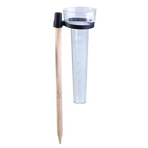OUNONA Ersatzschlauch Strahlungsmessgerät Regen PS Tasse Kunststoff- und Stöcke aus Holz für den Garten Außen