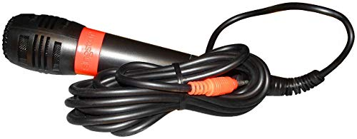 Mikrofon Rot für Singstar, kompatibel mit Playstation 2 und 3, Ersatz- und Zusatzmikrofon