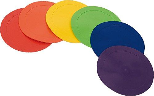 CreativeMinds UK Kids Learning Aktivität Spielen im Innenbereich Positional Poly Boden Marker Scheiben-Set von 6 (Poly Badewanne)