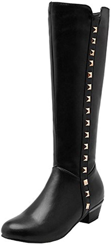 7c31d3a3a69 Easemax Women s Women s Dressy Studded Mid Chunky Heel Parent Round  nhta-30294 Toe Side Zipper Mid Calf Booties B0772Y4689 Parent 7e1ca94 ...